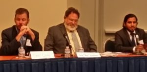 "Panelists Daniel Cassidy, Ira ""Ike"" Levine, and Matt Garcia"