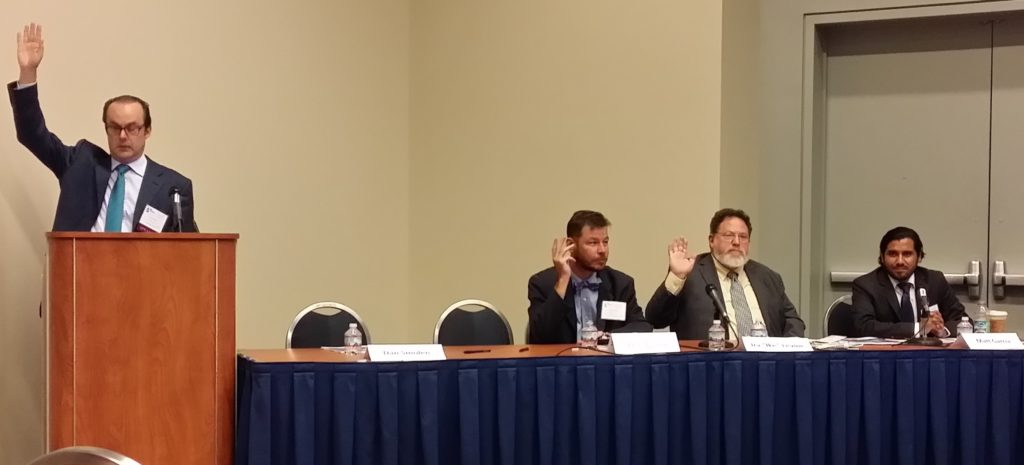 Dan Smolen engaged the audience and panelists with questions about working in the bioeconomy.