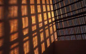 Filtered light through solar panels at CSIRO Energy Center, New Castle, Australia (Paul Foley)