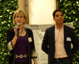 Janine Finnell, Leaders in Energy, introduces Walid Norris of Green Drinks DC.