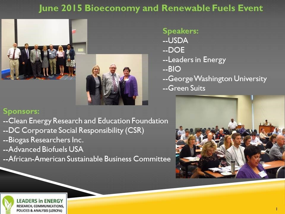 Bioeconomy and Fuels event