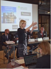 Janine Finnell, Founder of Leaders in Energy and Clean Energy Ambassador, Moderated the Session