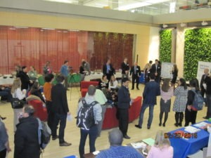 Crowd at the networking reception during the Energy Extravaganza