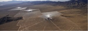 Figure 2: Ivanpah Solar Thermal Generating plant located in the Mojave Desert in California.