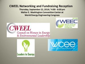 Council on Women in Energy and Environment (CWEEL) Reception