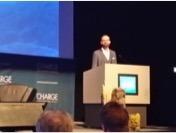 Fridrik Larsen, Larsen Energy Branding, speaking at Charge Conference