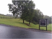 Delaplane Cellars sign at the entrance to the Vineyard and Winery