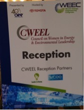 The reception was conducted by CWEEL in partnership with Leaders in Energy and WCEE.