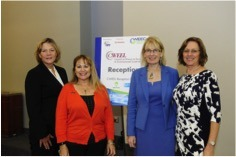 Mary Sell, WCEE; Laurie Wiegand-Jackson; CWEEL Co-Chair; Janine Finnell, Leaders in Energy and CWEEL Board; and MaryAnne Lauderdea, CWEEL Co-Chair (shown l-r)