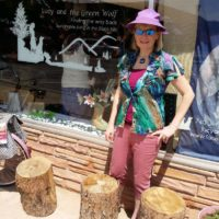 Janine Finnell in Hot Springs, South Dakota visiting store on sustainable living called Lucy and The Green Wolf