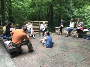 Returned to the Nature Center for small group discussions - This group focuses on how to localize United Nations Sustainable Development Goal #7 on Clean Affordable Energy