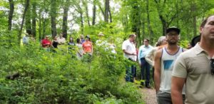 Walking on the trail to learn more about the flora and fauna in the park.