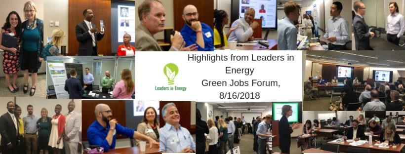 Photos from 2018 Green Jobs Forum