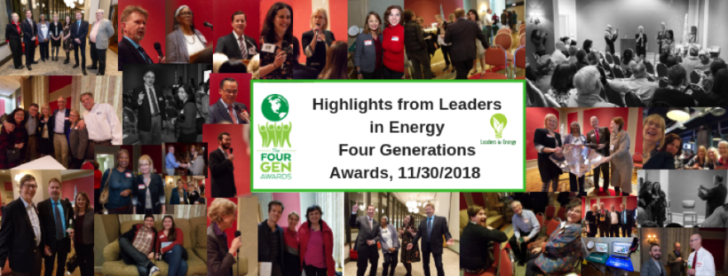 2018 The Four Gen Awards:      Celebrating Clean Energy and Sustainable Solutions!