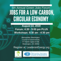Growing the Green Economy, Careers, and Jobs in the DMV Region
