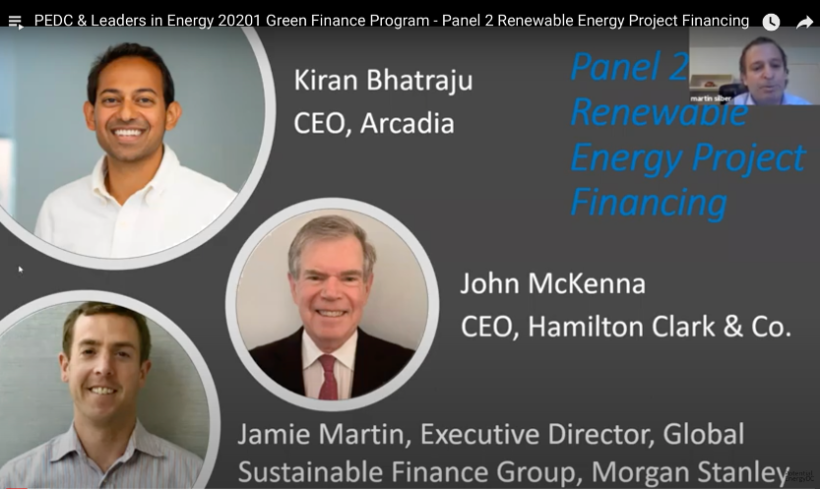 PEDC & Leaders in Energy Green Financing: Panel 2